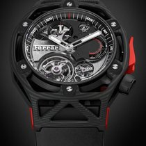 Hublot Carbon Manual winding new Techframe Ferrari Tourbillon Chronograph