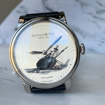 Arnold & Son White gold 40mm Manual winding 1LCAW.S08A.C111W new