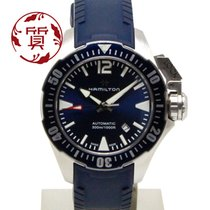 Hamilton Khaki Navy Frogman pre-owned 42mm Blue Date Rubber