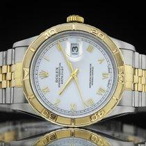 Rolex Datejust Turn-O-Graph Or/Acier 36mm Blanc Romain