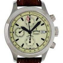 Askania Tempelhof Stahl Automatik Chronograph Lederband 42mm...