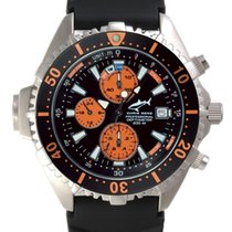 Chris Benz Depthmeter Chronograph CB-C-ORANGE-KB Herrenchronog...