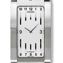 Movado Elliptica Staal 25mm Wit Arabisch