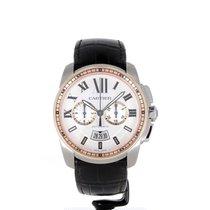 Cartier Calibre Chronographe or et acier
