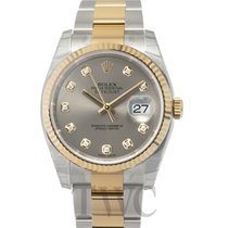 Rolex Datejust Oro amarillo 36.00mm Gris
