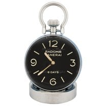 Panerai Table Clock Stal 65mm Czarny