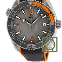 Omega Seamaster Planet Ocean co-axial grey orange NEW
