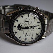 Omega Speedmaster Professional Moonwatch Moonphase Steel 42mm White