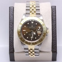 Rolex Gmt Master Root Beer Bezel 16753 18k Yellow Gold &...