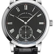 A. Lange & Söhne White gold Manual winding Black 40.5mm new Richard Lange