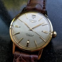 Longines Conquest Automatic Vintage 18k Yel Gold 1960s Mens...