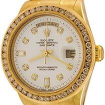 Rolex Day-Date 36 Zuto zlato 35mm Bjel Bez brojeva