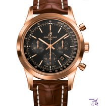 Breitling Transocean Chronograph Rose gold 43mm Black No numerals