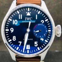 IWC Big Pilot Acier 46mm Bleu Arabes