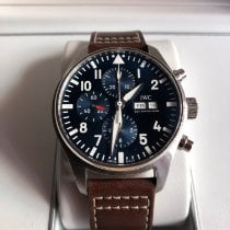 IWC Pilot Chronograph Stål 43mm Blå Arabiska