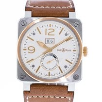 Bell & Ross Steel Automatic White 42mm pre-owned BR 03-90 Grande Date et Reserve de Marche