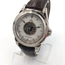 Omega De Ville Central Tourbillon Platinum 38.7mm Silver No numerals