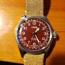 Oris Big Crown Pointer Date pre-owned 40mm Red Date Leather