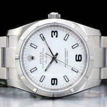 Rolex Air King Steel 34mm White Arabic numerals
