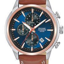 Pulsar Steel 44mm Quartz PM3120X1 new