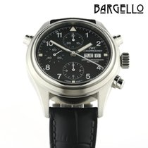 IWC Pilot Double Chronograph pre-owned 42mm Leather