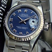Rolex Lady-Datejust 26mm Plav-modar Rimski brojevi