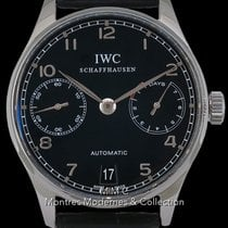 IWC Portuguese Automatic Acier 42.3mm Noir Arabes France, Paris