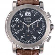 Michel Herbelin Flyback Chronograph Stahl Automatik Lederband...