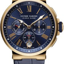 Ulysse Nardin Marine Chronograph Rose gold Blue United States of America, New York, Brooklyn
