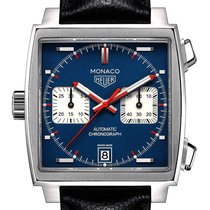 TAG Heuer Chronograph 39mm Automatic 2019 new Monaco Calibre 11 Blue