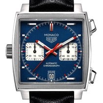 TAG Heuer Monaco Calibre 11 Steel 39mm Blue No numerals United Kingdom, London