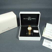 IWC nuevo Cuarzo Segundero pequeño 29mm Oro amarillo Cristal de zafiro