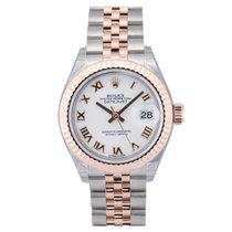 Rolex Lady-Datejust 28 White Roman Dial 279171