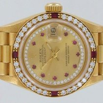ロレックス (Rolex) Lady-Datejust 18k  26mm Factory Ruby/Diamonds