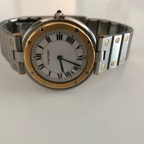 Cartier Gold/Steel Quartz CARTIER SANTOS pre-owned