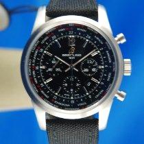 Breitling Chronograph 46mm Automatik 2016 neu Transocean Unitime Pilot Schwarz