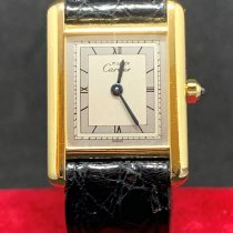 Cartier Silver Manual winding pre-owned Tank Vermeil