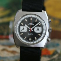 Dugena Chronograph 40mm Manual winding 1970 pre-owned Black