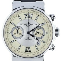Ulysse Nardin pre-owned Automatic 41mm Silver Sapphire Glass 30 ATM