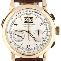 A. Lange & Söhne Rose gold Manual winding White 39mm pre-owned Datograph