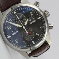 IWC Pilot Spitfire Perpetual Calendar Digital Date-Month Staal 46mm Grijs