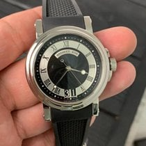 Breguet Steel Automatic Black Roman numerals 39mm pre-owned Marine