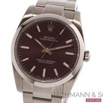 Rolex Oyster Perpetual 34 Acél 34mm Pink Számjegyek nélkül
