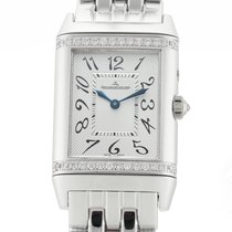 Jaeger-LeCoultre White gold Manual winding Silver Arabic numerals 25mm pre-owned Reverso (submodel)