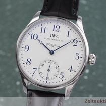 IWC Portuguese Hand-Wound Steel 43mm White