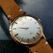 Omega De Ville Trésor pre-owned 34mm Gold Leather