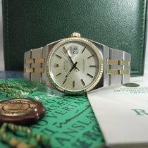Rolex Datejust Oysterquartz Altın/Çelik 36mm Gümüş Sayılar yok
