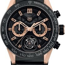 TAG Heuer Rose gold Automatic Transparent 45mm new Carrera Heuer-02T