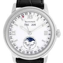 Blancpain Leman Day Date Month Moonphase Men's Steel Watch...