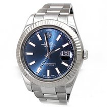 Rolex 41mm  Stainless Steel Datejust II Watch Blue Dial